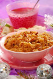 Sauerkraut (bigos) with sausage for christmas Royalty Free Stock Photo