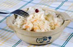 Sauerkraut in a bowl Royalty Free Stock Photos