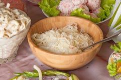 Sauerkraut in a bowl Stock Photography