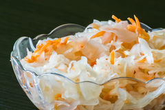 Sauerkraut in a bowl. Royalty Free Stock Photography