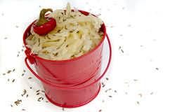 Sauerkraut with caraway seeds Royalty Free Stock Images