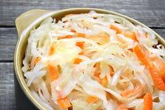 Sauerkraut with carrot Stock Photos