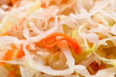 Sauerkraut. With carrot close up Selective focus Stock Photo