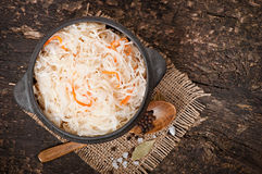 Sauerkraut with carrot Stock Photos