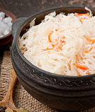 Sauerkraut with carrot Royalty Free Stock Images