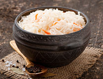 Sauerkraut with carrot Stock Image