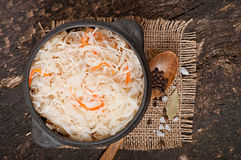 Sauerkraut with carrot Royalty Free Stock Photo