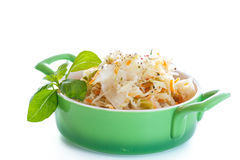 Sauerkraut with carrots in a bowl Stock Image