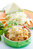 Sauerkraut with carrots in a bowl Royalty Free Stock Images