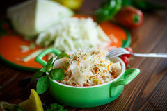 Sauerkraut with carrots in a bowl Stock Images