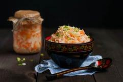 Sauerkraut with carrots Stock Images