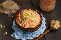 Sauerkraut with carrots Royalty Free Stock Images