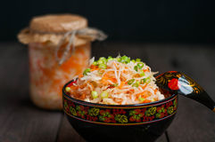 Sauerkraut with carrots Royalty Free Stock Photography