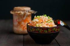 Sauerkraut with carrots Stock Image