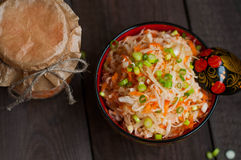 Sauerkraut with carrots Stock Images