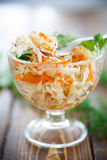 Sauerkraut with carrots and spices Stock Image