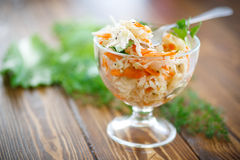 Sauerkraut with carrots and spices Stock Photo