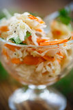 Sauerkraut with carrots and spices Royalty Free Stock Image