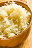 Sauerkraut in ceramic bowl Stock Images