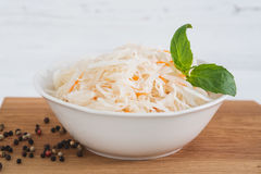 The sauerkraut in ceramic bowl Royalty Free Stock Photo