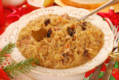 Sauerkraut for christmas Royalty Free Stock Photography