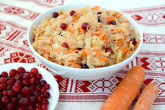 Sauerkraut with a cranberry. Food Royalty Free Stock Photo