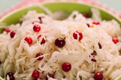Sauerkraut with cranberry Royalty Free Stock Images