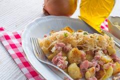 Sauerkraut dumplings Stock Photos