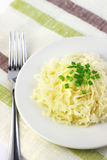 Sauerkraut on white plate Stock Image