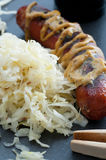 Sauerkraut And Sausage Royalty Free Stock Photo