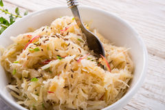 Sauerkraut with ingredients Stock Photo