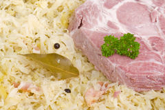 Sauerkraut with loin ribs Royalty Free Stock Image