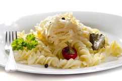 Sauerkraut with noodle Royalty Free Stock Photo