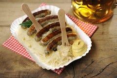 Sauerkraut + Nuernberger Bratwuerstchen Royalty Free Stock Images