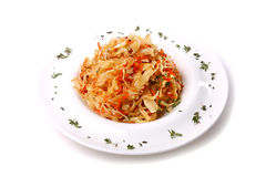 Sauerkraut with a parsley Royalty Free Stock Photo