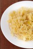 Sauerkraut on plate Royalty Free Stock Photos