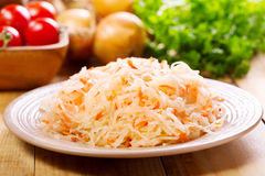 Sauerkraut in a plate Royalty Free Stock Images