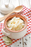 Sauerkraut. In a pot on a table Royalty Free Stock Photo