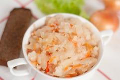 Sauerkraut - Russian national food Royalty Free Stock Images