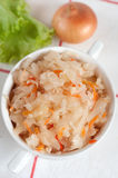 Sauerkraut - Russian national food Stock Image