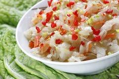 Sauerkraut salad. Salad from a sauerkraut,carrot and paprika Royalty Free Stock Photo