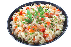 Sauerkraut salad Royalty Free Stock Photography