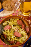 Sauerkraut with sausage Stock Photos