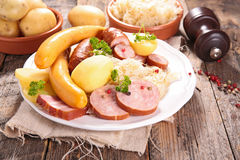 Sauerkraut with sausage Royalty Free Stock Images
