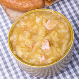 sauerkraut and sausage stew Royalty Free Stock Photo