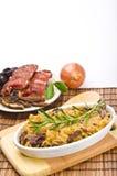 Sauerkraut with smoked meat Stock Photos