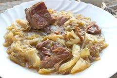 Sauerkraut with smoked pork Royalty Free Stock Photos