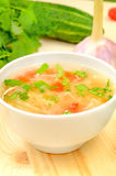 Sauerkraut soup in white bowl Stock Image