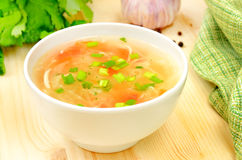 Sauerkraut soup in white bowl Stock Photography