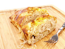 Sauerkraut strudel Stock Photography